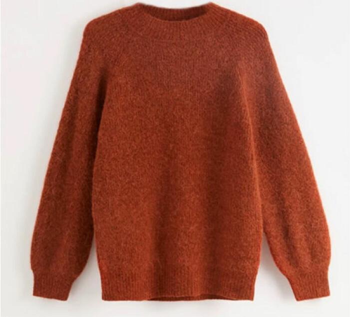 röd stickad tröja från lindex