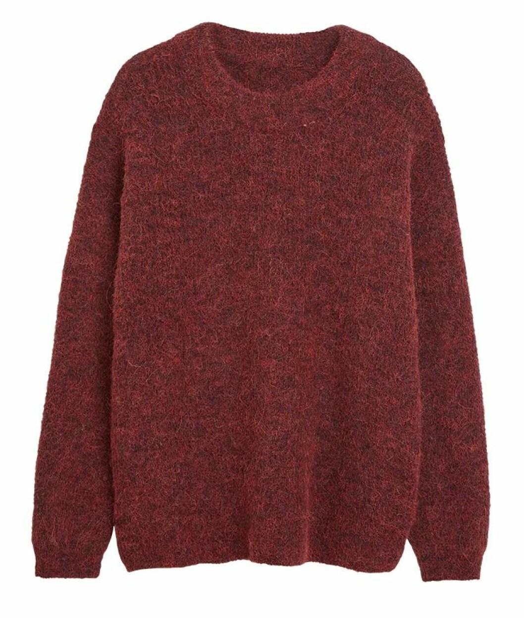 Röd stickad tröja
