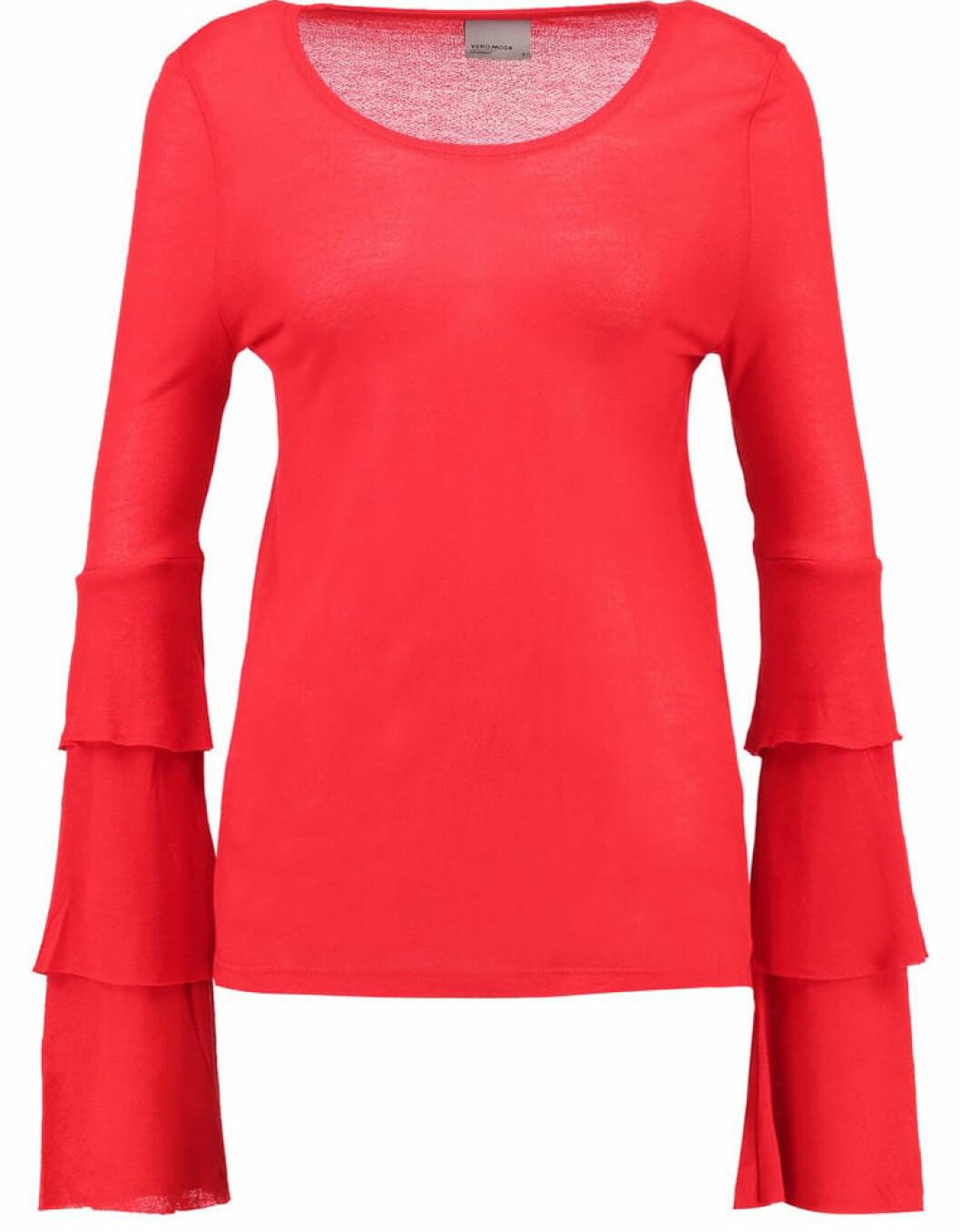 röd tröja volanger