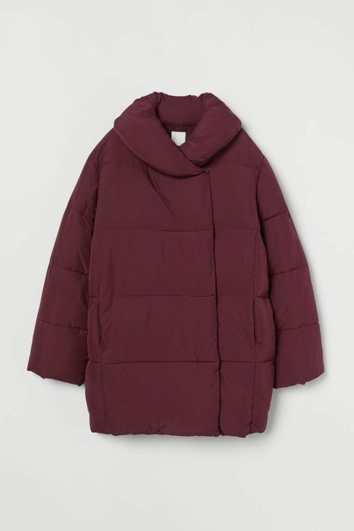 Röd vadderad dunjacka från H&M