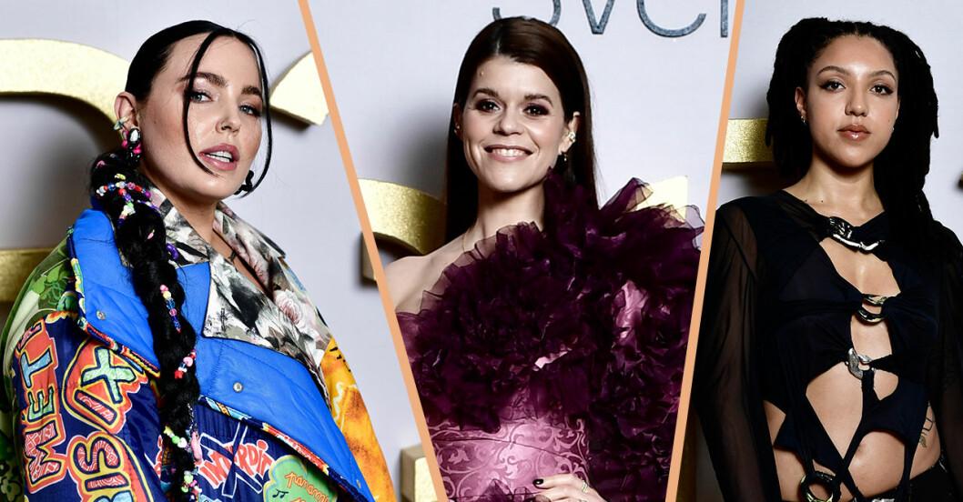 Miriam Bryant, Emma Molin och Nápoles på P3 gulds röda mattan.