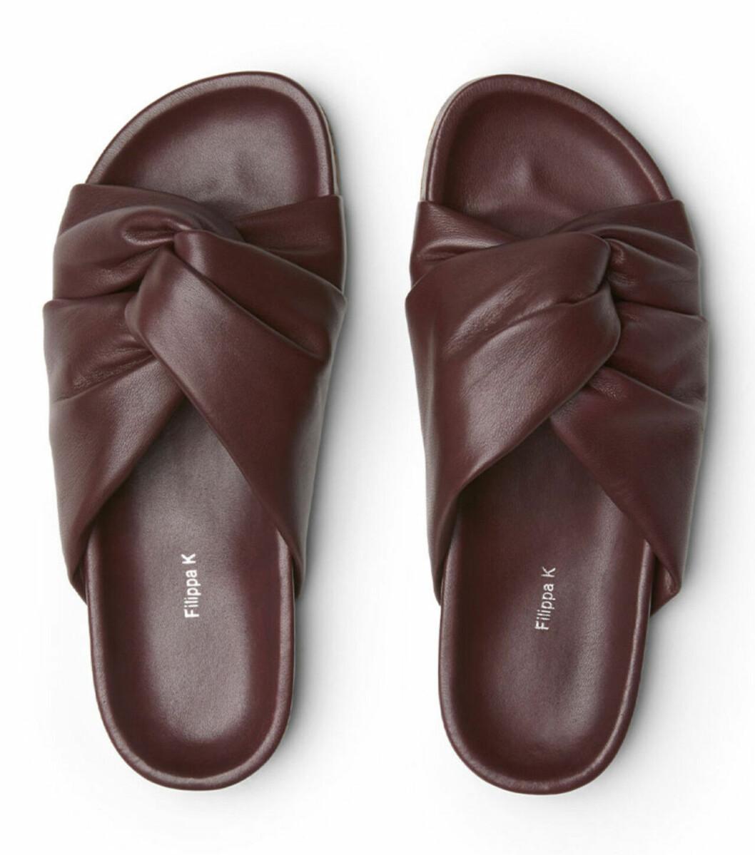 Röda sandaler med knytdetalj för dam till 2020