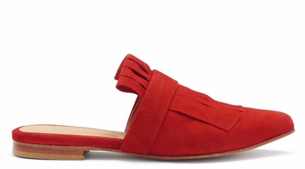 Röda slip in-skor, vårskor, för dam till våren 2019