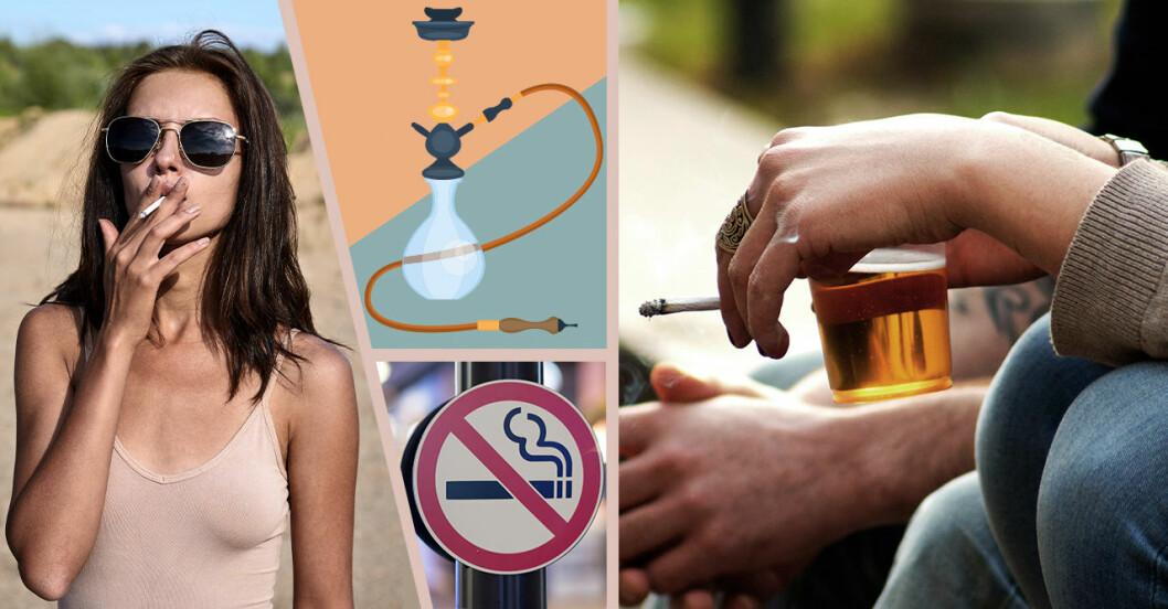 Platser som omfattas av rökförbudet.