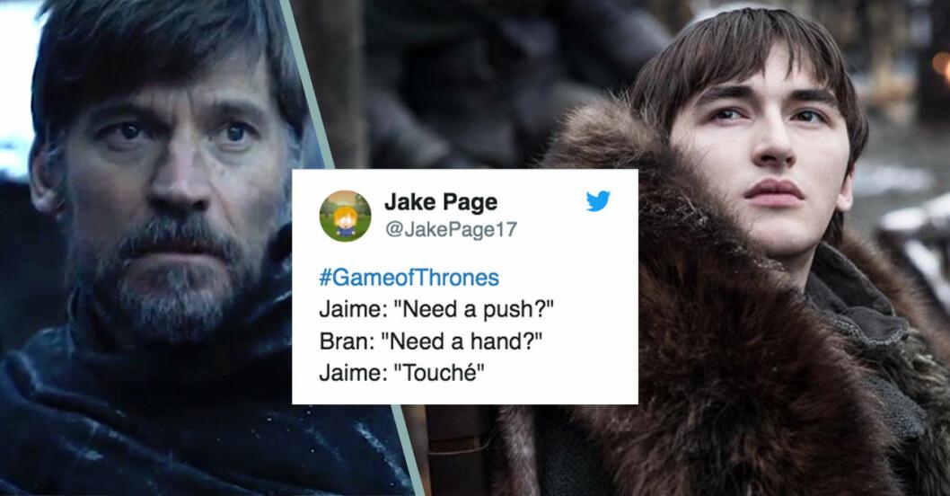 Roliga tweets om Game of Thrones.