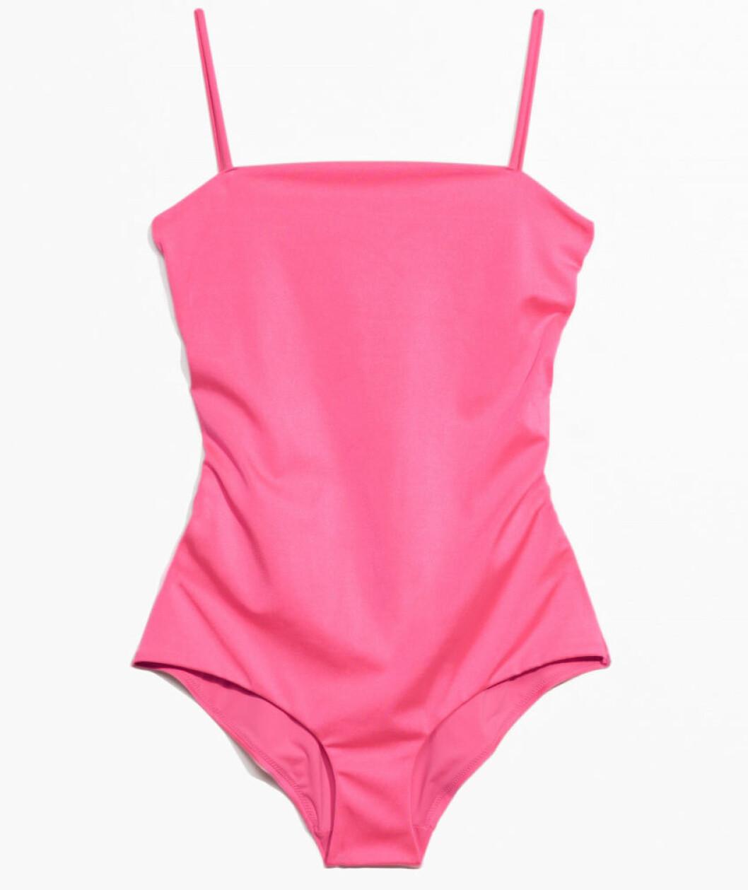 rosa baddräkt