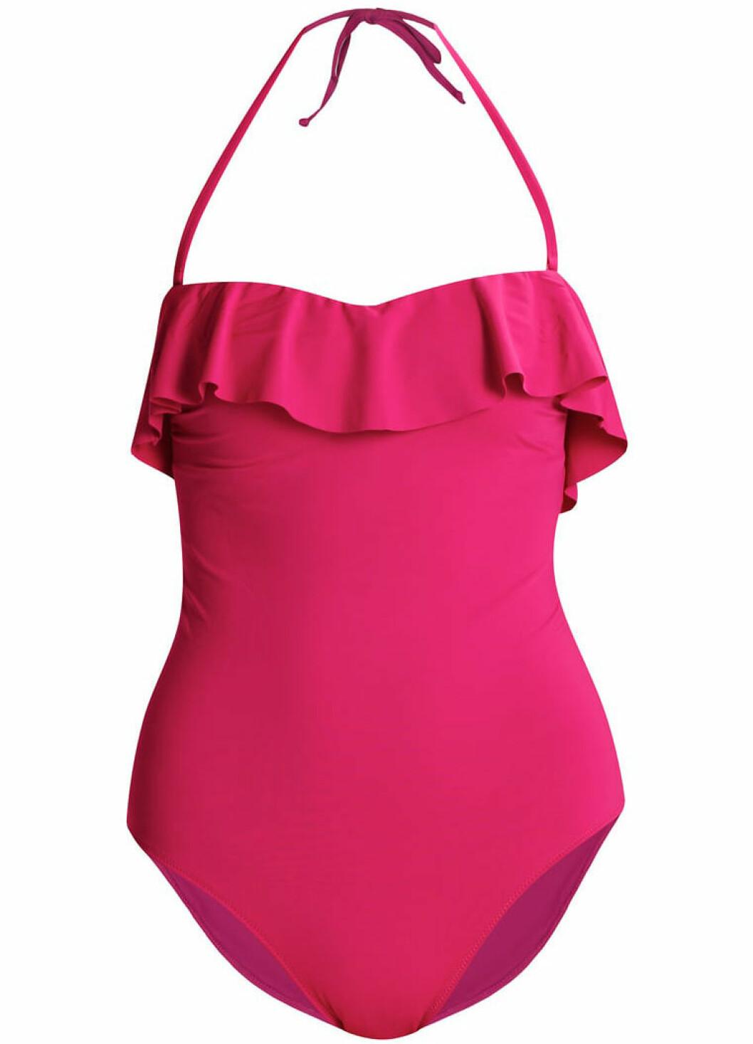 rosa baddräkt volang