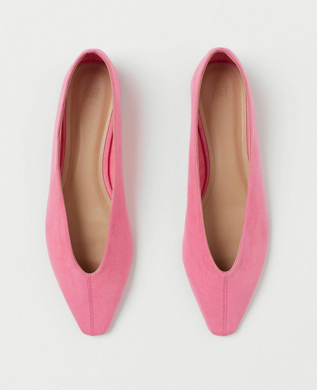 Rosa ballerinaskor för dam till våren 2020