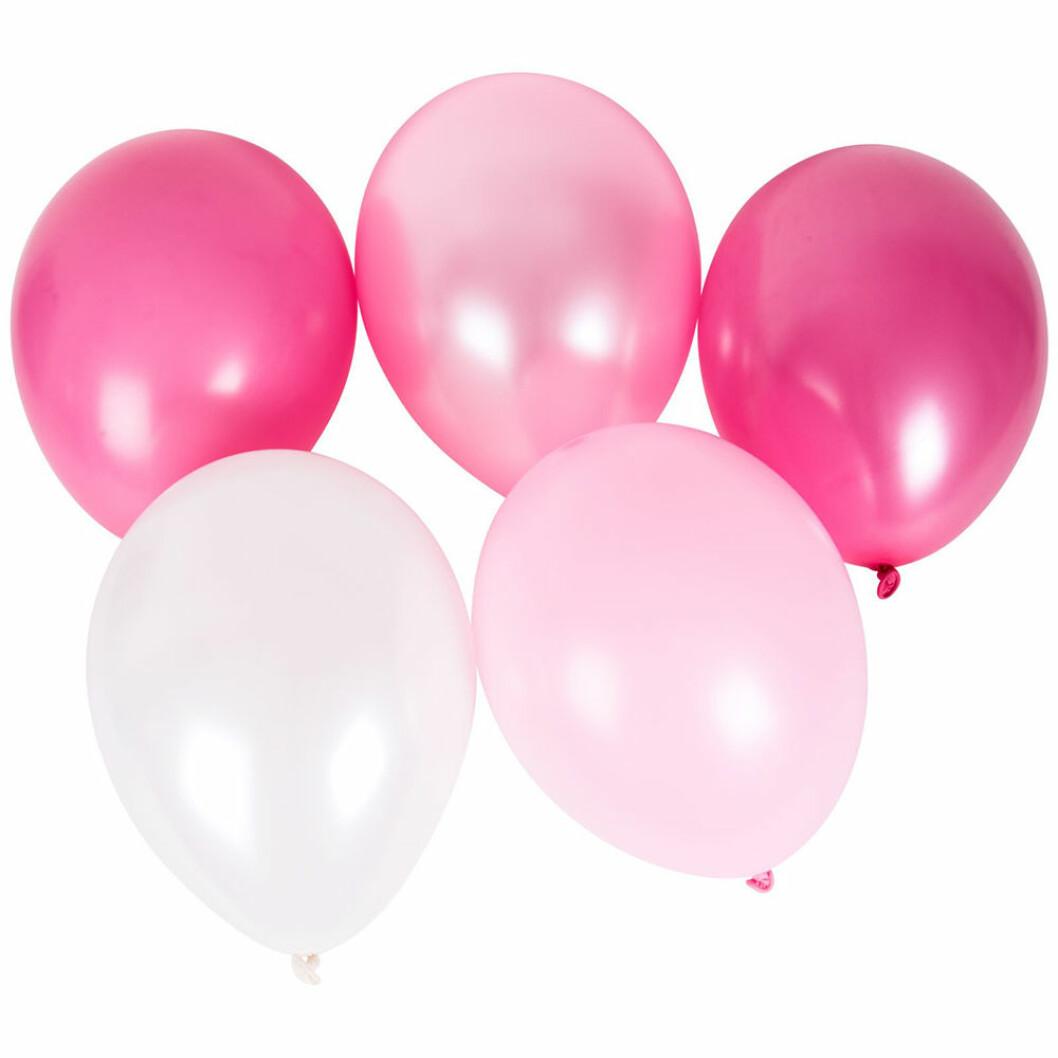 10-pack med rosa ballonger