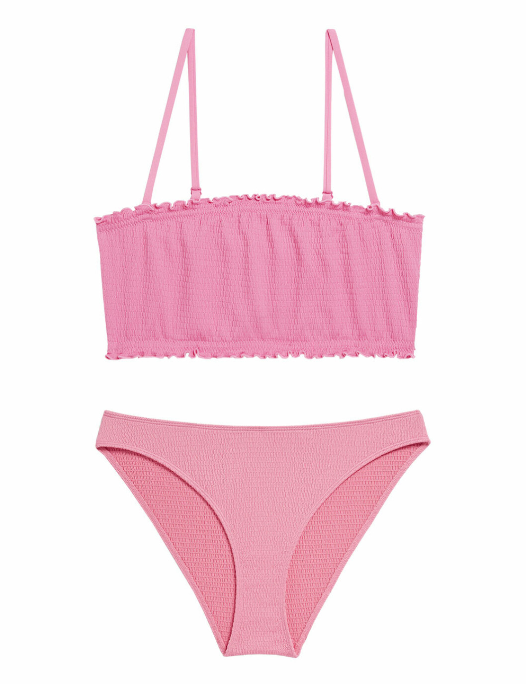 Rosa bikini med smock för dam till 2020