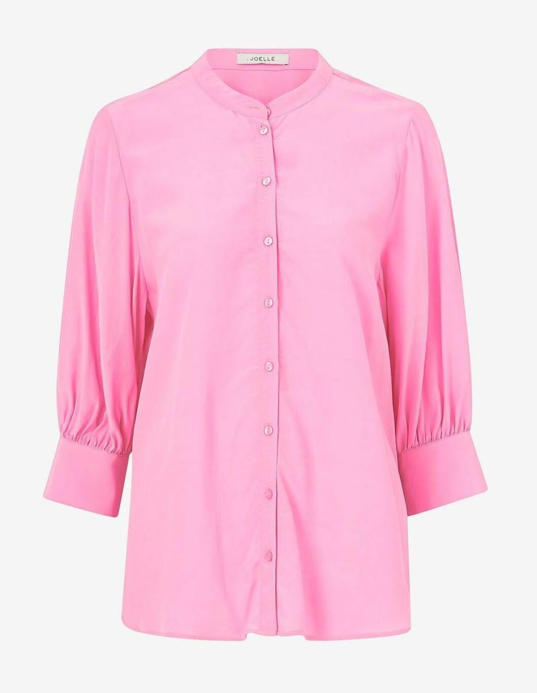 Rosa blus med trekvartslång ärm för dam till 2020