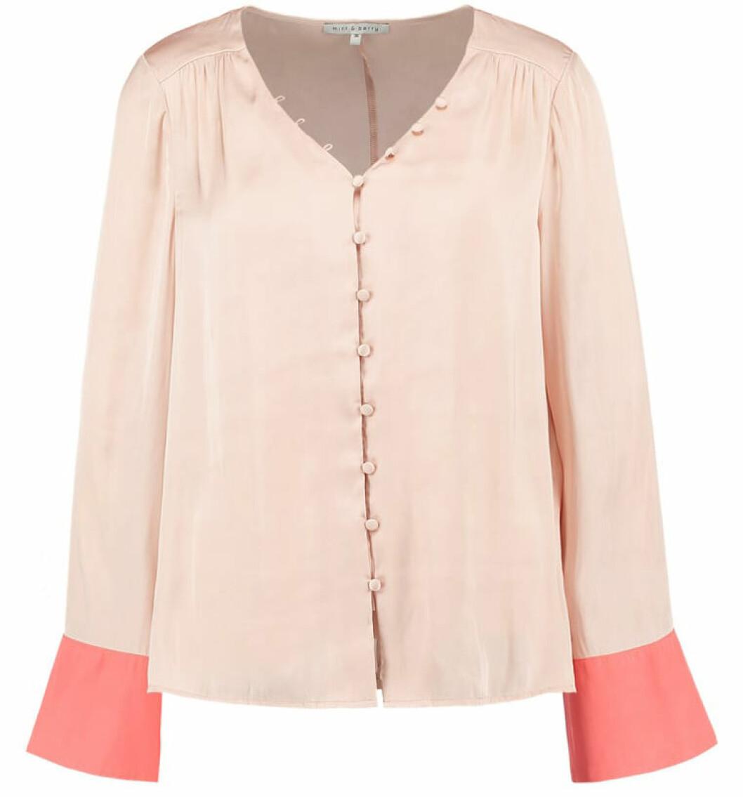 rosa blus pyjamas