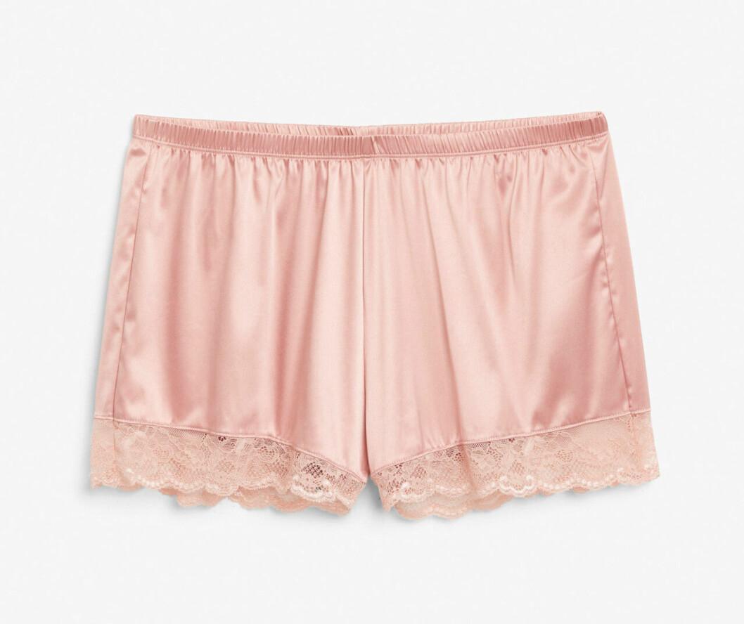 Rosa shorts att sova i