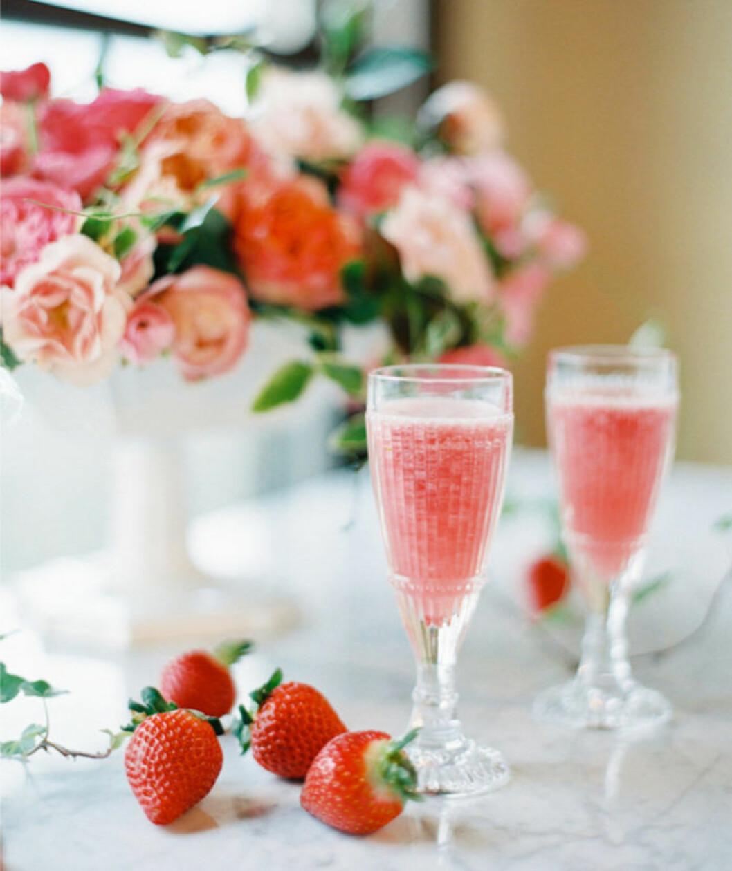 Valentine's Champagne Cocktail.