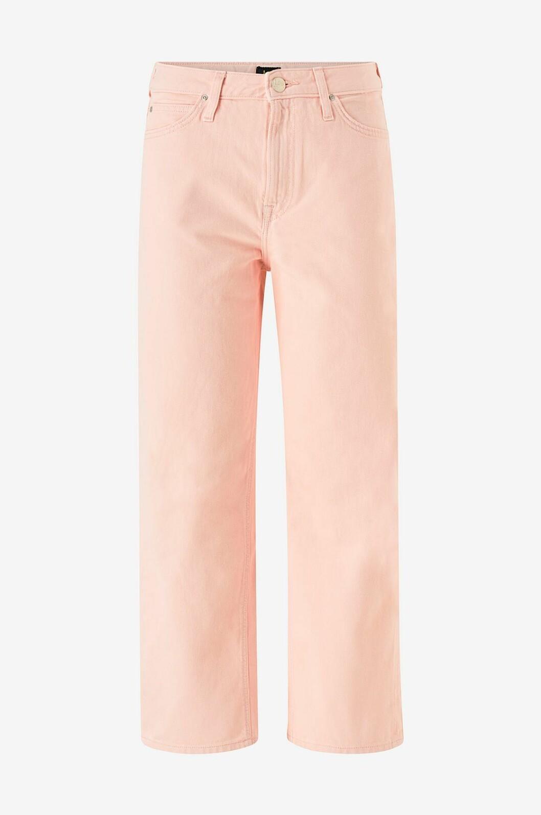 Rosa jeans med utsvängda ben för dam till våren 2020