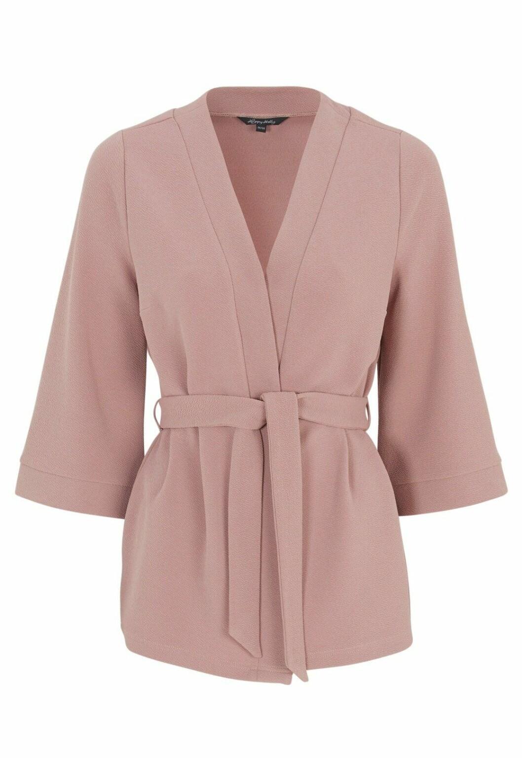 Matchande set: Puderrosa kimono för dam