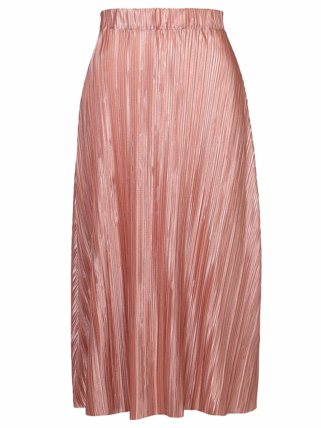 långkjol rosa plisserad