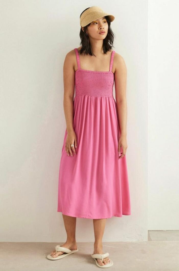 rosa ärmlös klänning med smock