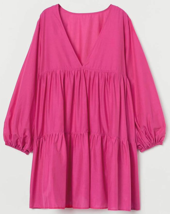 rosa vids klänning från H&M