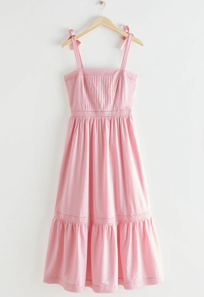 rosa klänning till midsommar