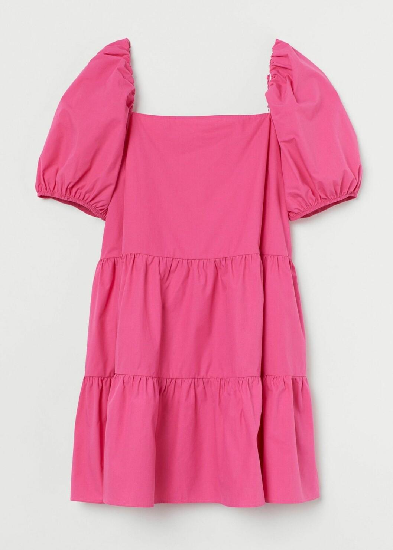 Rosa klänning med puffärm från H&M