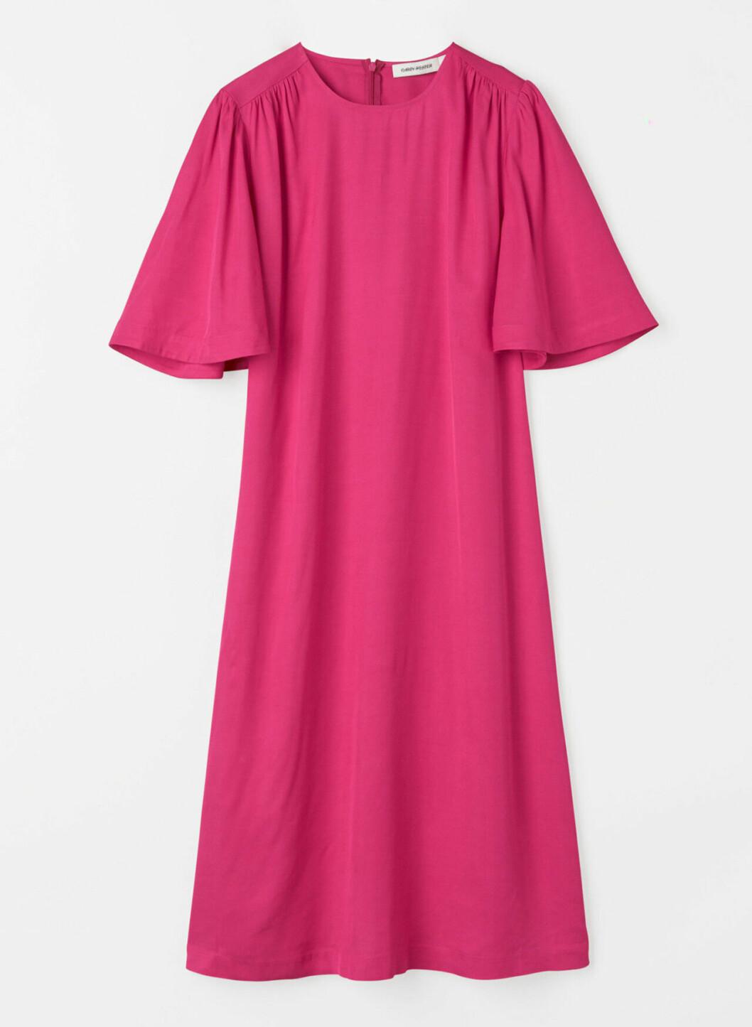 Rosa klänning med vid ärm för dam till 2020