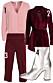 rosa och vinrod outfit 1