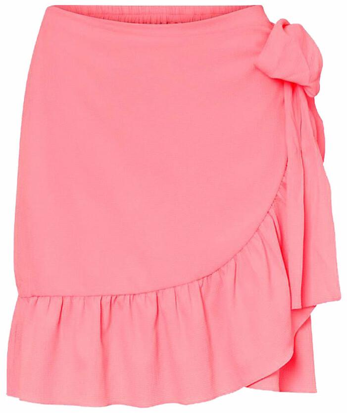 rosa omlottkjol med volanger