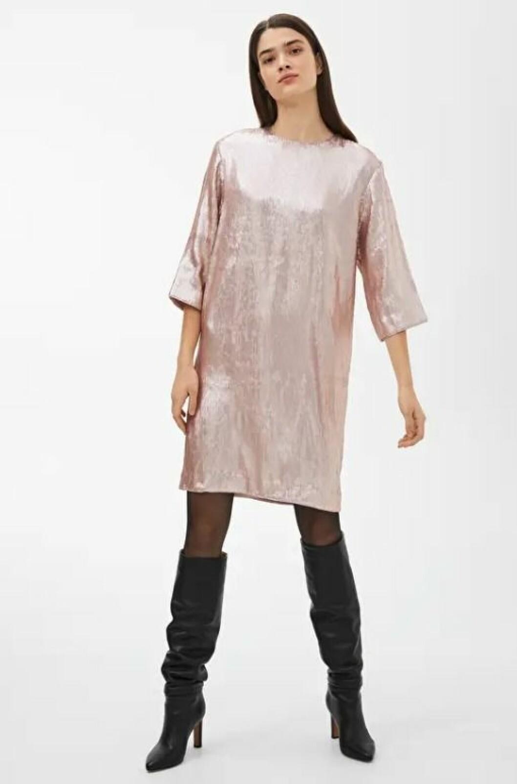 Rosa paljettklänning till nyårsafton för dam till 2019