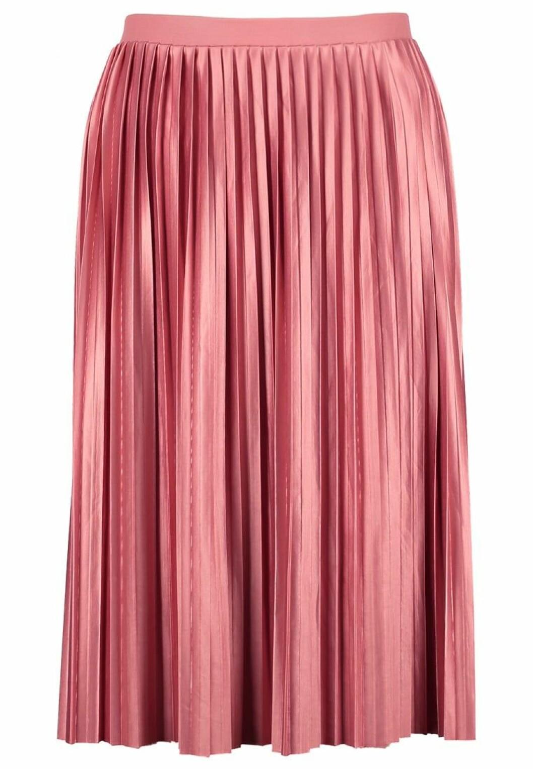 rosa plisserad kjol 2017