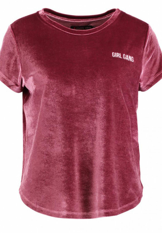 Rosa-sammets-tshirt-even-odd
