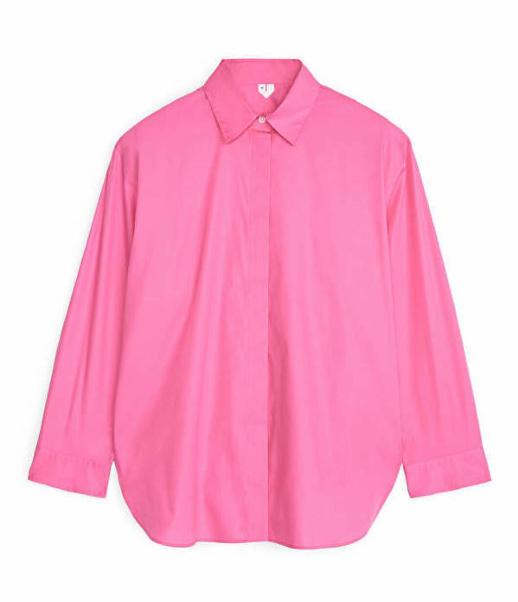 Rosa skjorta i oversize-modell för dam till 2020