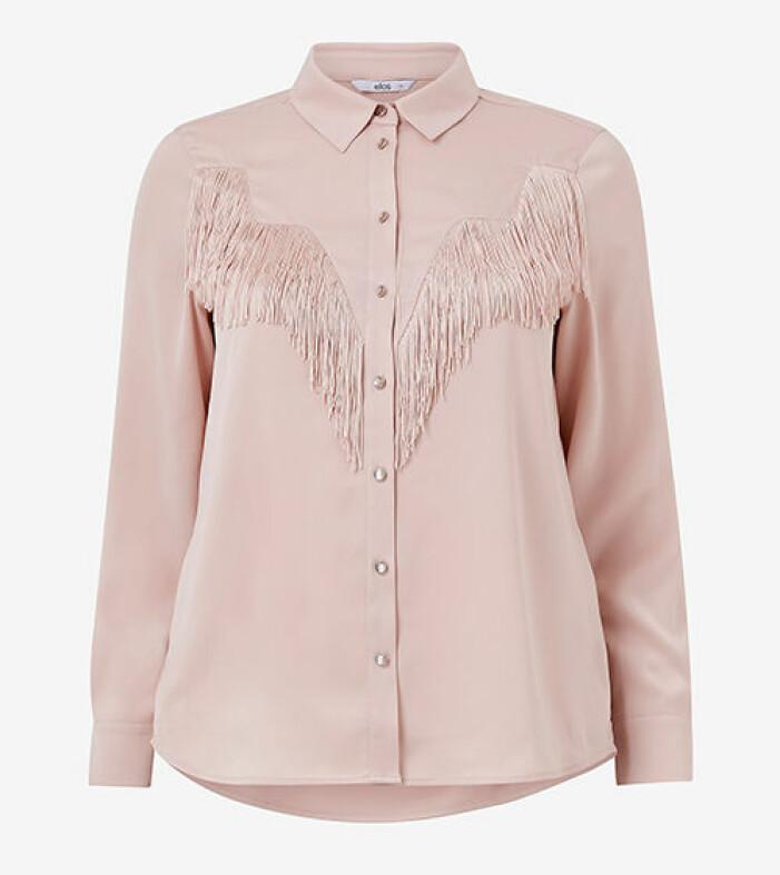 rosa skjorta med fransar från kakan x ellos