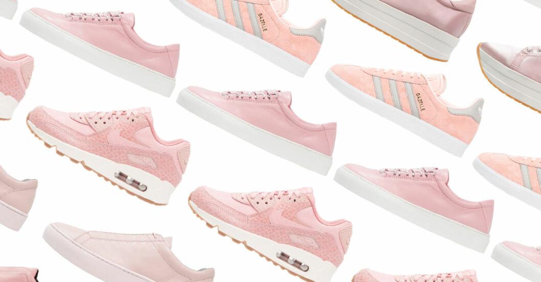 rosa sneakers 2017 dam