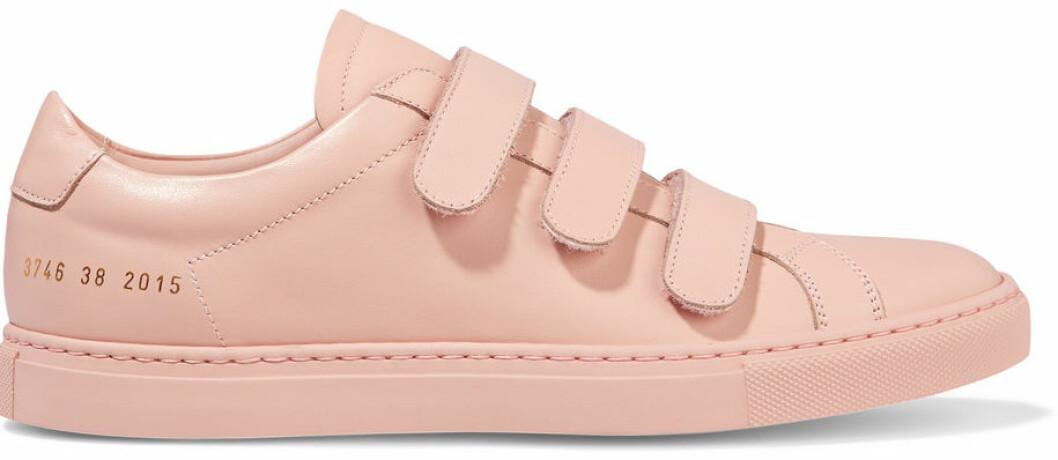 rosa sneakers kardborre