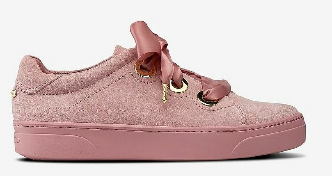 Rosa sneakers i mocka från Agnes Cecilia till dam våren 2019