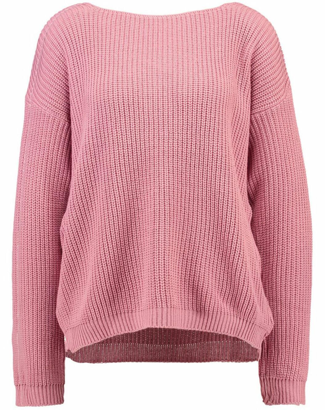 rosa stickad tröja