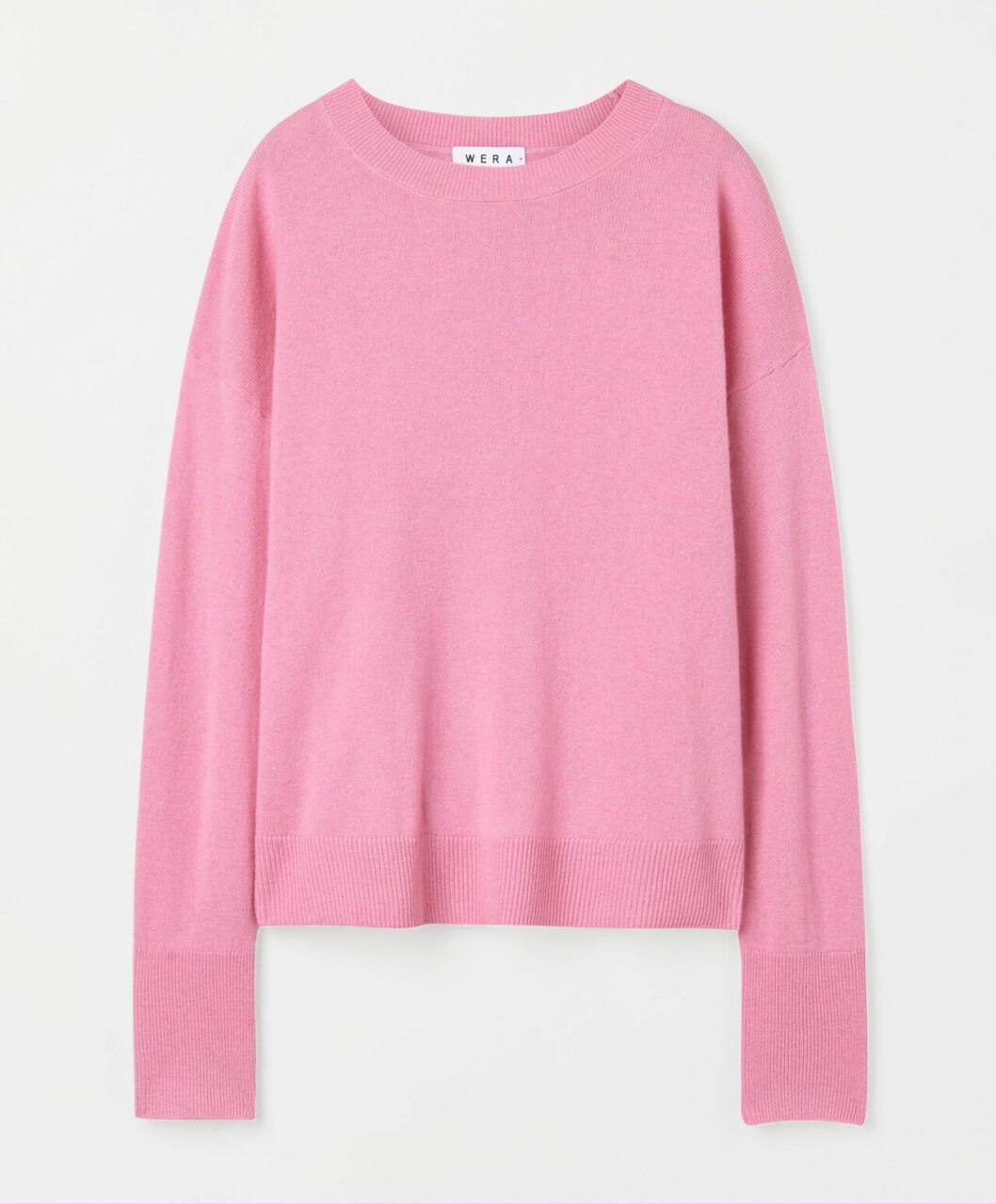 Rosa stockad tröja för dam till 2020