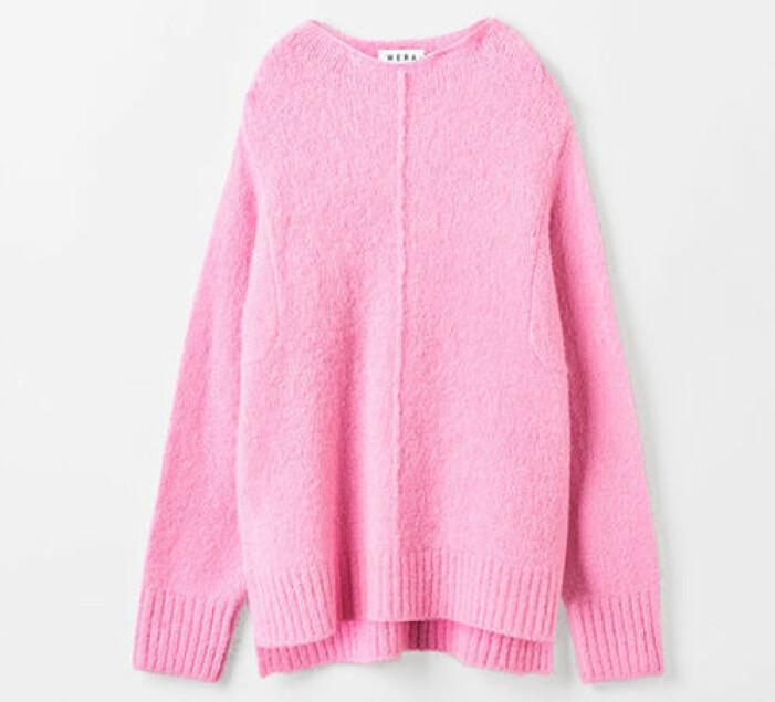 rosa stickad tröja till dam