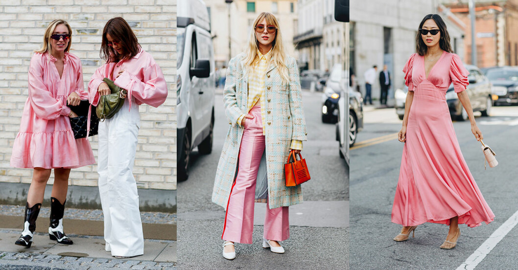 Rosa vårmode 2020: trendfärg