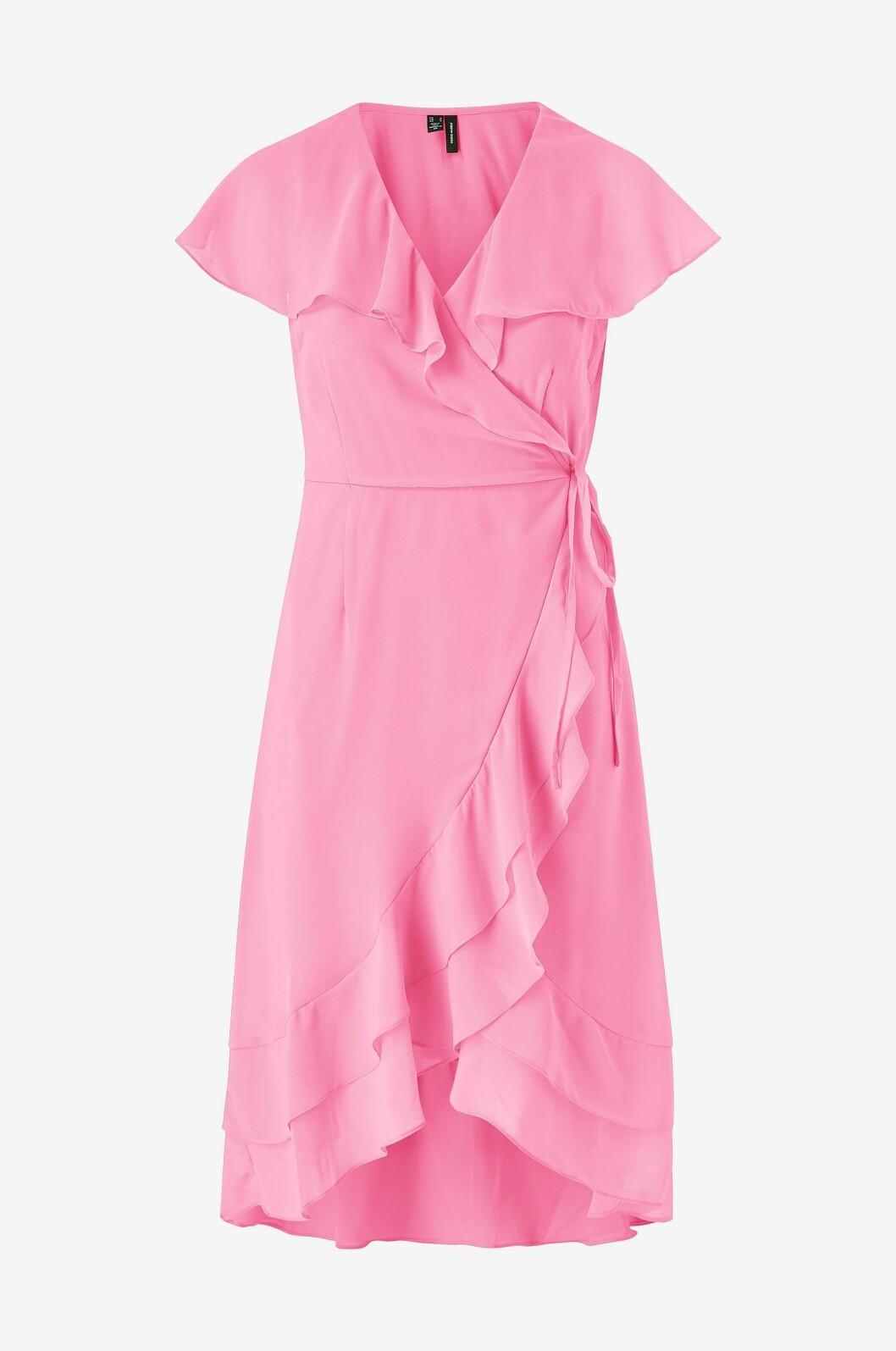 Rosa volangklänning för dam till sommaren 2020