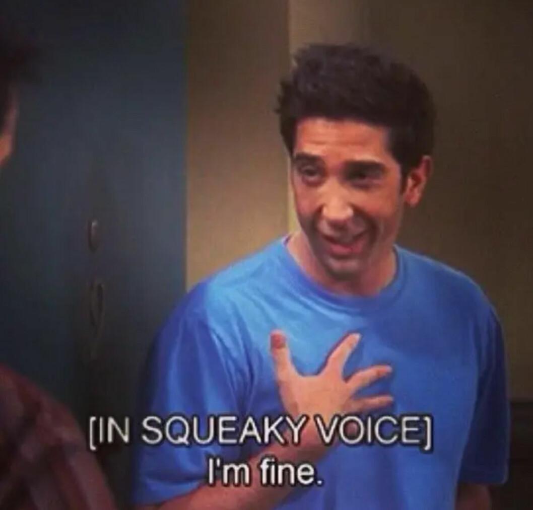 Ross får panik