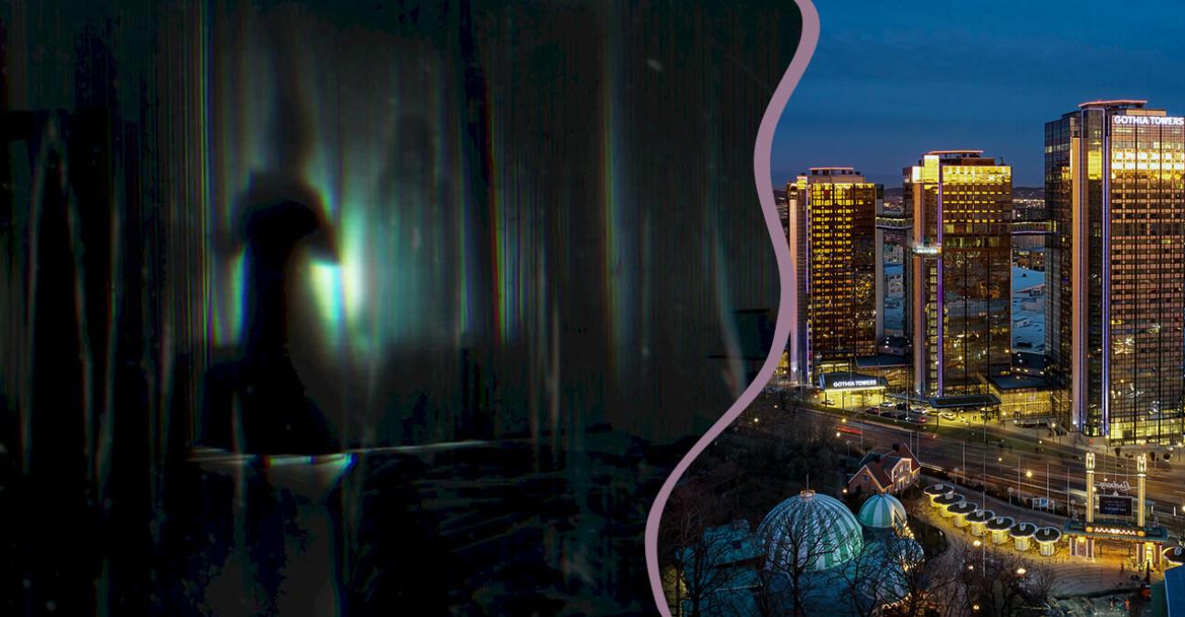 Läskig spökbild samt Gothia Towers by night