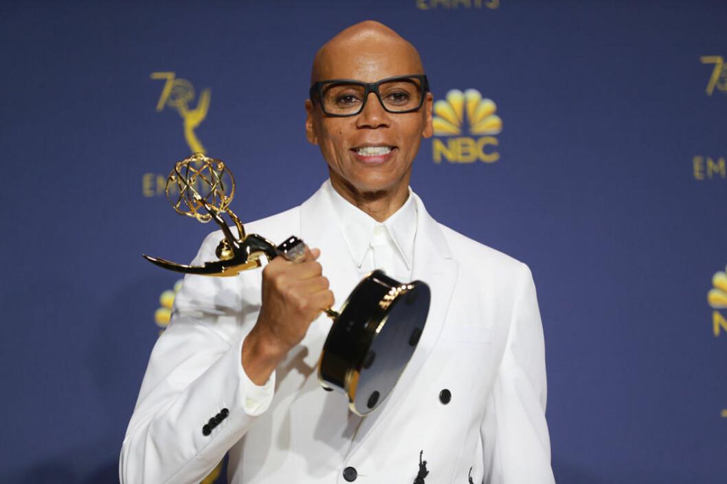 Rupaul vann en Emmy 2018.