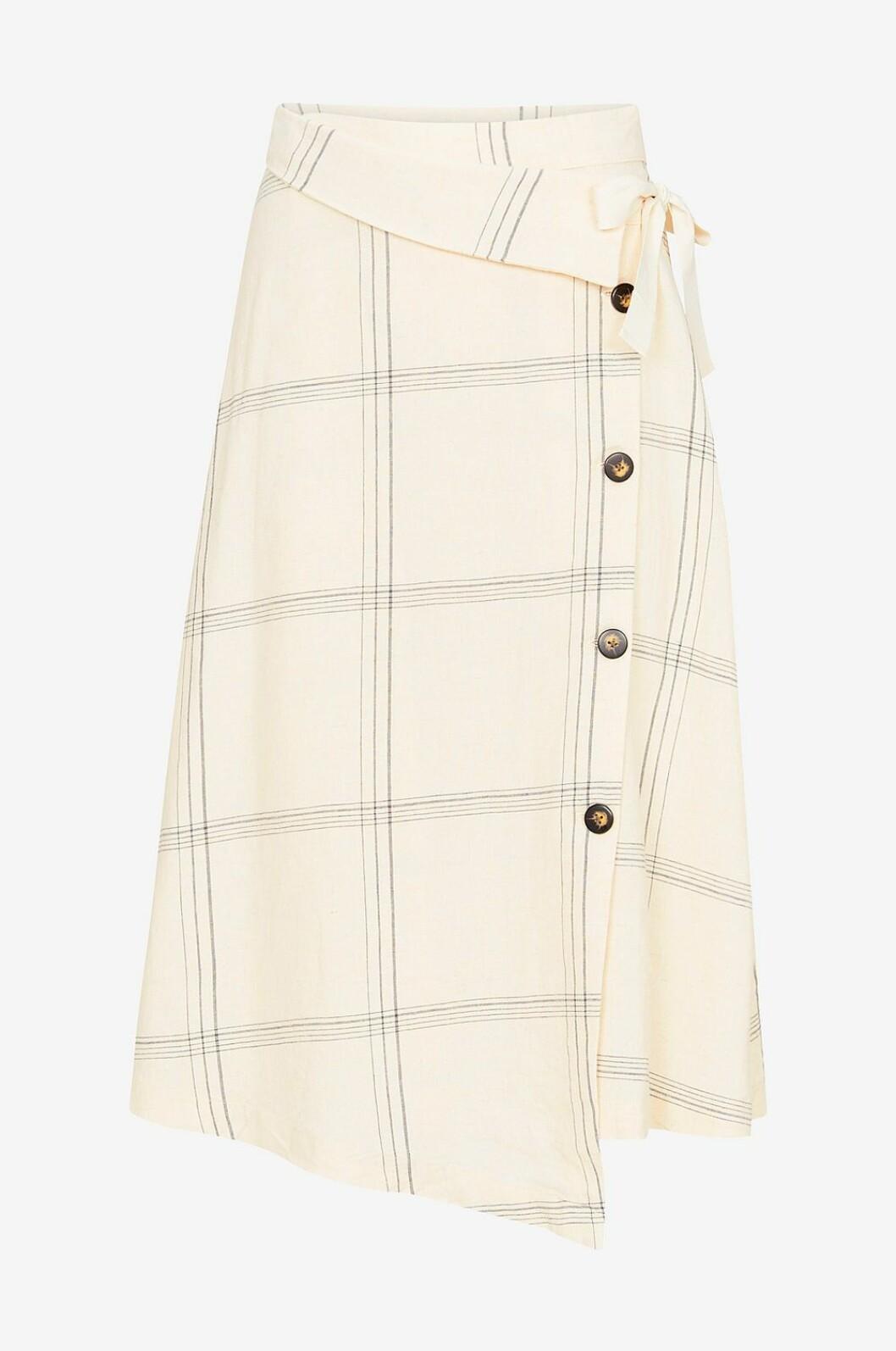 Beige rutig kjol till våren och sommaren 2019