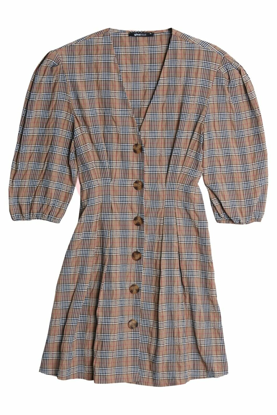 Rutig klänning till 2018