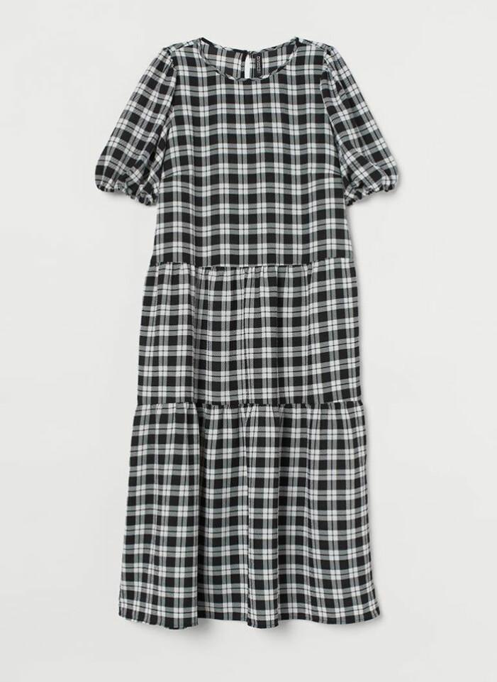 Rutig klänning H&M