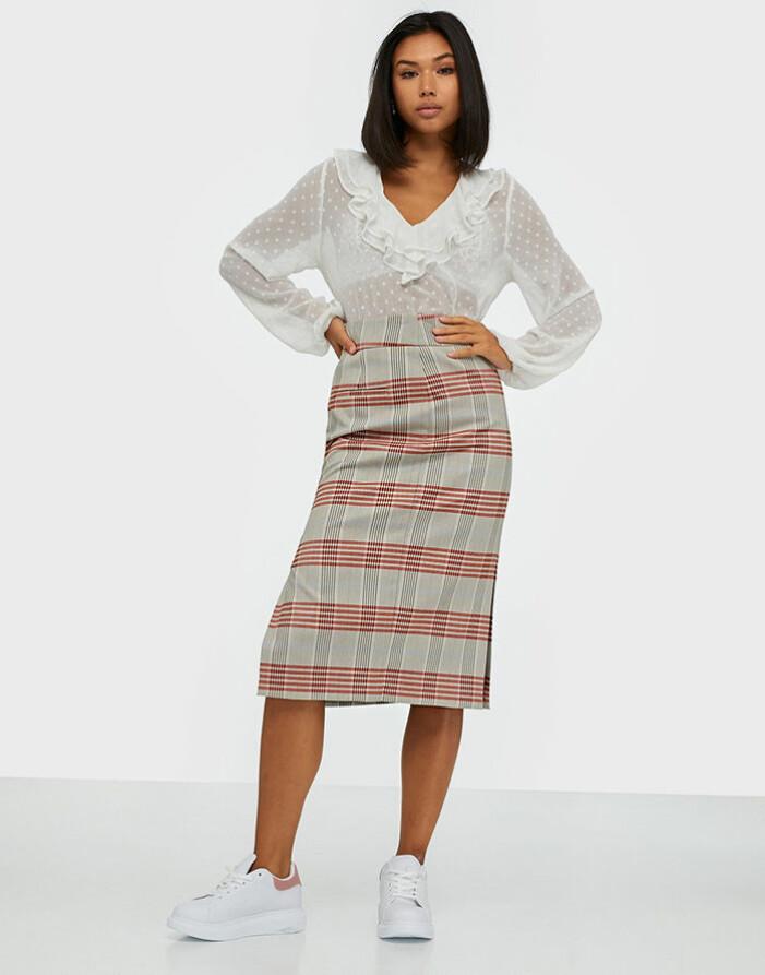 Rutig midi-kjol från Selected Femme
