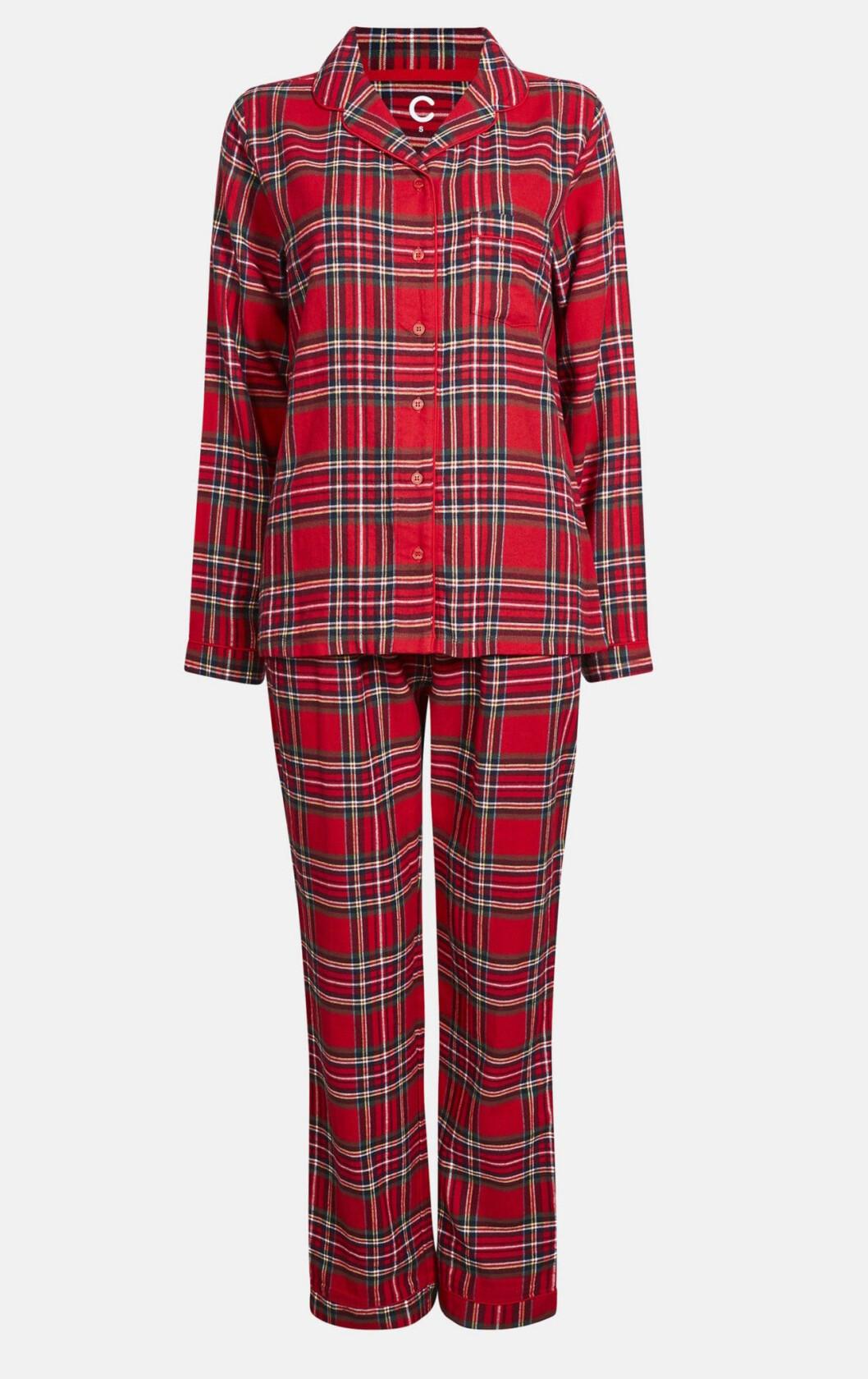 Rutig pyjamas till julen