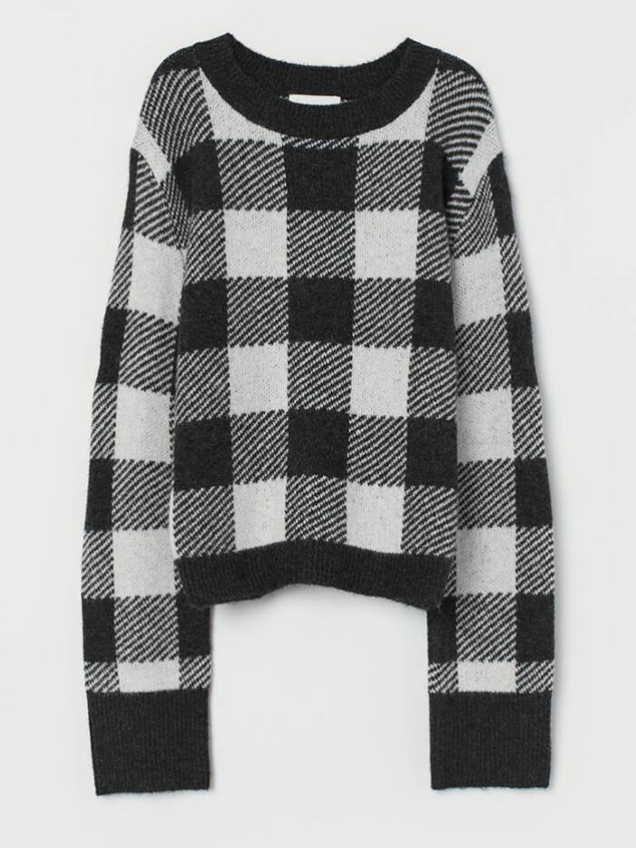 Rutig tröja från H&M